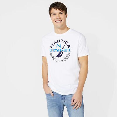 Nautica Mens Sailing Flags J-Class Graphic T-Shirt