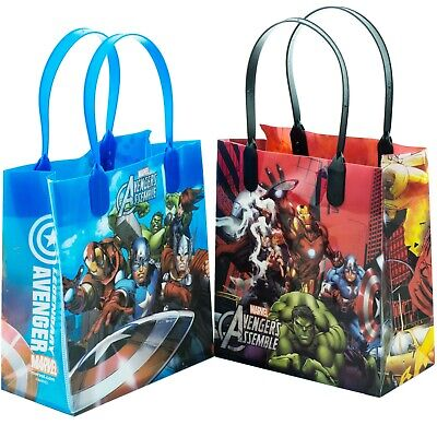 12PCS Marvel Avengers Assemble Goodie Party Favor Gift Birthday Loot Bags Small - Avenger Party