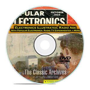 Electronics Illustrated Popular Electronics 378 Old Time Radio Magazines DVD E55