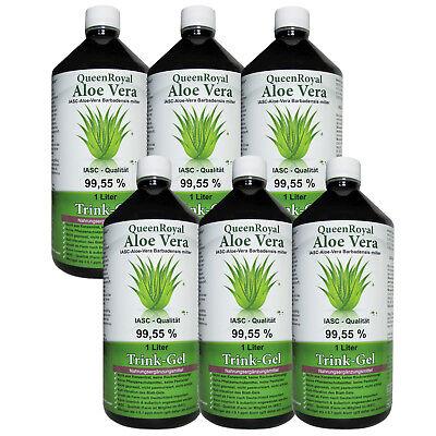 QueenRoyal Aloe Vera Trink Gel 99.55% pur 6 Liter Sparpack #30254-G
