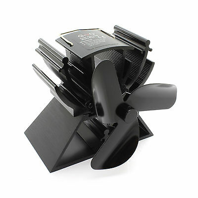 12.5cm Mini Heat Powered Stove Fan For Small Space Wood / Log Burner/Fireplace
