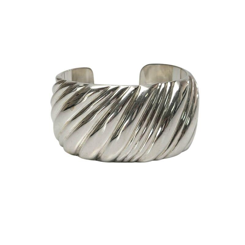 Vintage Tiffany & Co Sterling Silver Wide Cuff Bracelet #9530