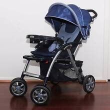 Reclining Baby Pram Stroller - Black and Blue - Easy to use Narre Warren Casey Area Preview