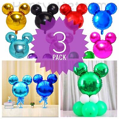 Mickey Minnie Mouse Birthday party foil balloons 3 pack baby shower centerpiece - Balloon Minnie Mouse