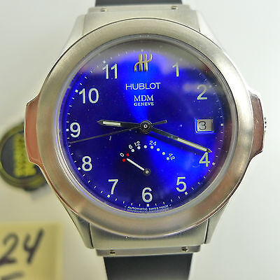 Hublot Steel Blue Dial Power Reserve Automatic Reference #1830.730.E.1