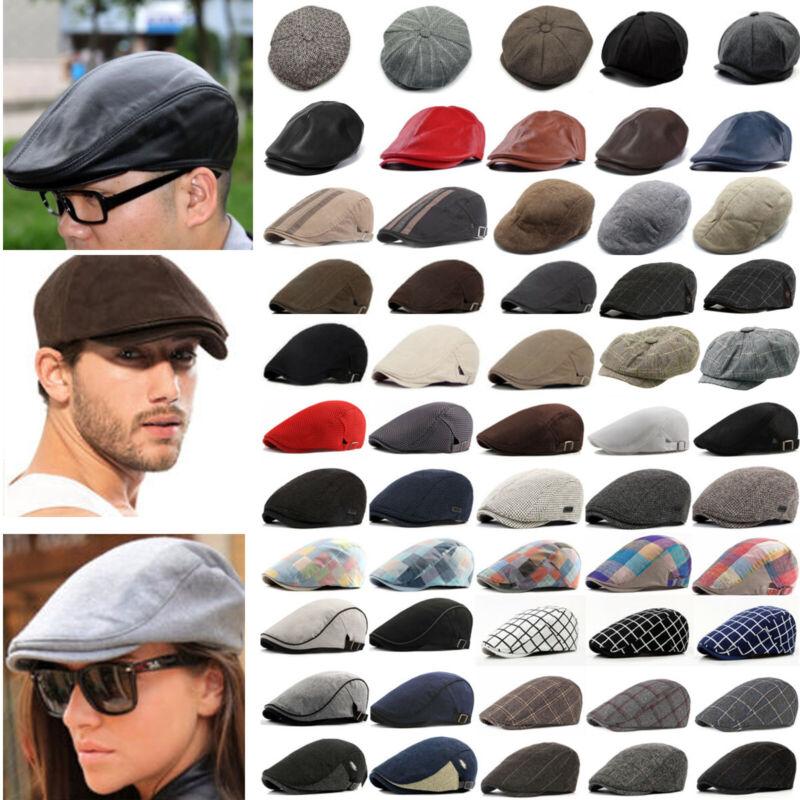 Herren Schiebermütze Flatcap Beret Vintage Sommer Sonnenschutz Gatsby Hut Mütze