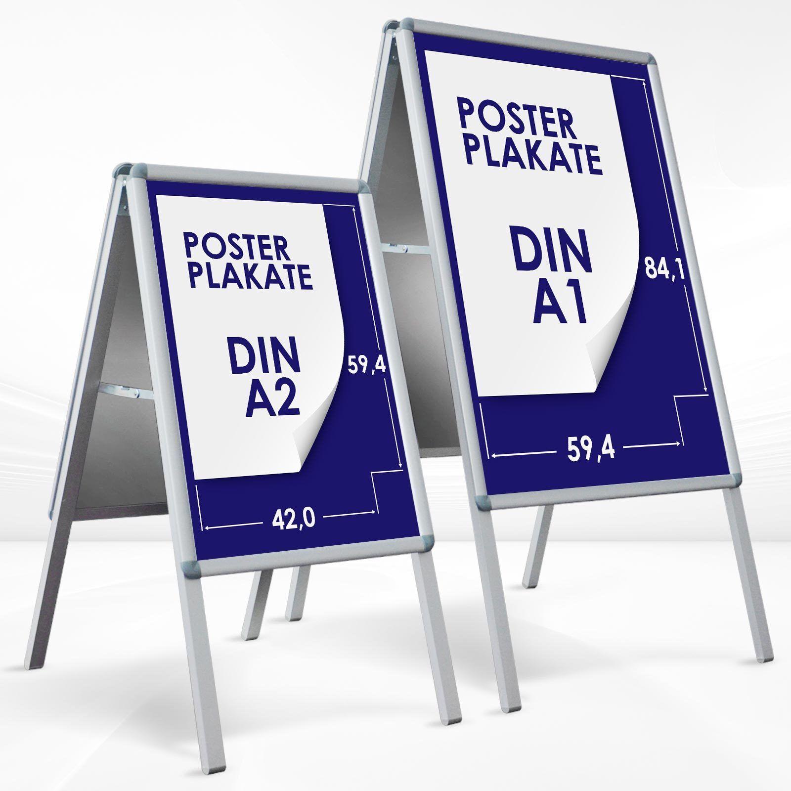 Kundenstopper Plakatständer Werbetafel Werbeträger Gehwegaufsteller 25mm Profil