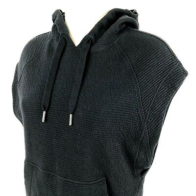 Lululemon Black Hooded Cap-Sleeve Hooded Pullover Vest Jacket Womens Size 6