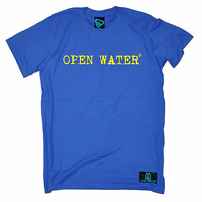 Open Water Yellow Text Mens T Shirt Tee Christmas Gift Top Funny Scuba Diving