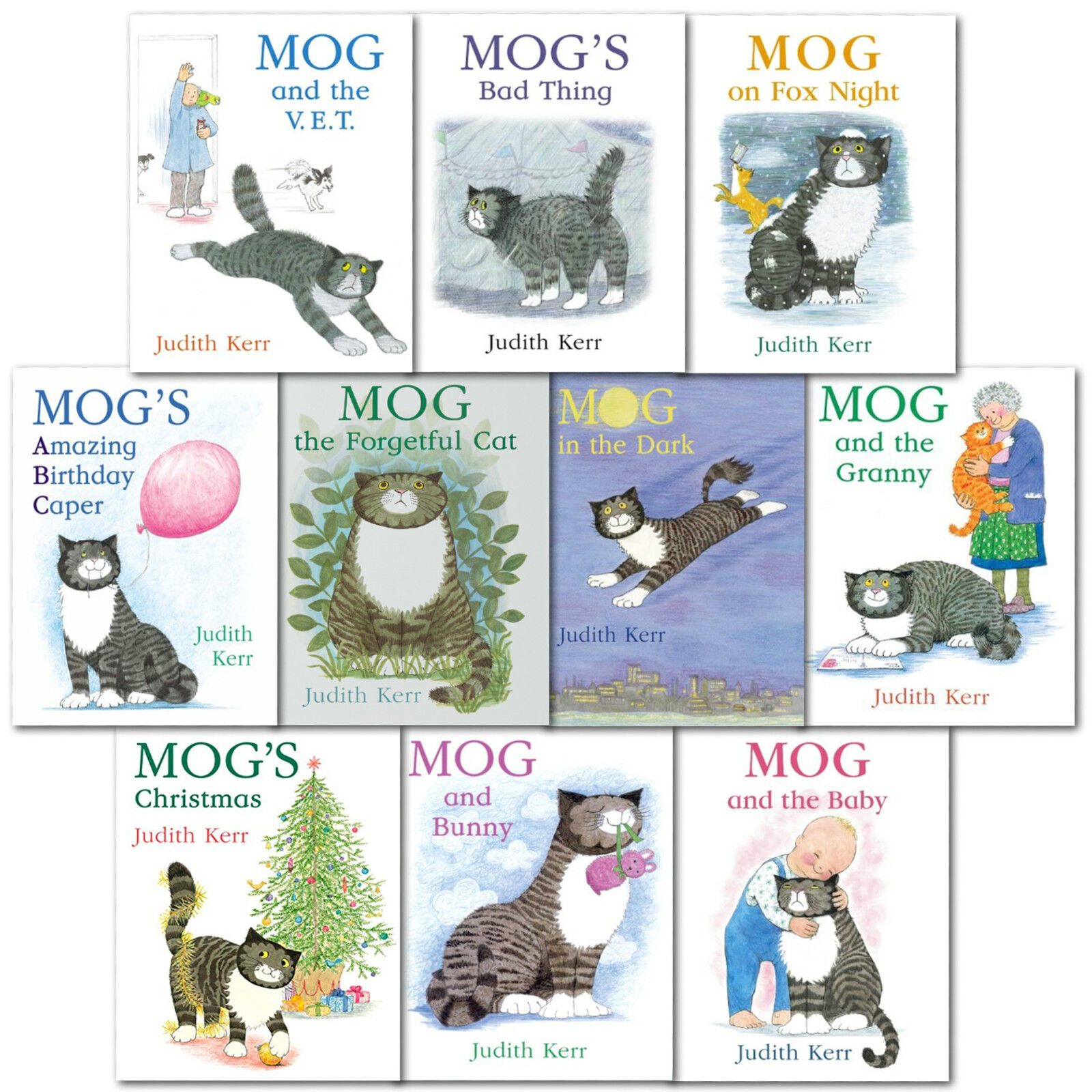 Judith Kerr Mog the Forgetful Cat Collection 10 Books Set (Set 1 ...