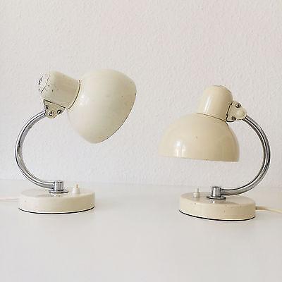 PAIR of KAISER IDELL 6722 Table Lamps CHRISTIAN DELL modernist BAUHAUS Art Deco