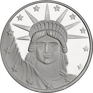 Silvertowne Lady Liberty 1 oz .999 Fine Silver Round