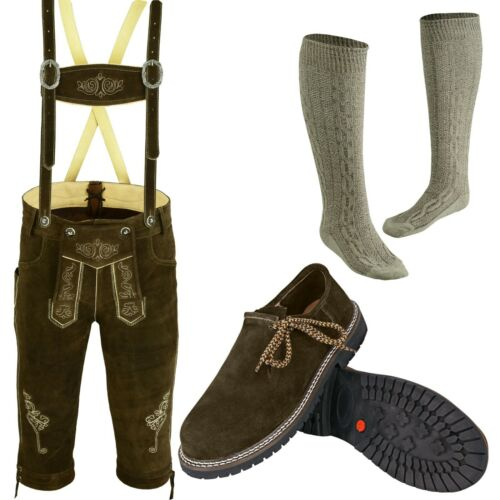 German Bavarian Oktoberfest Trachten Lederhosen Shoes and Socks Deal