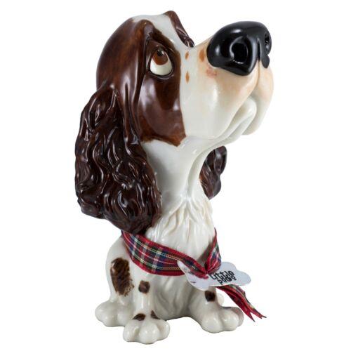 "Little Paws ""Ben"" Springer Spaniel Dog Figurine 5"" High Ceramistone New"