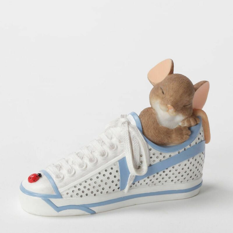 "Charming Tails Mouse 2.375"" Figure Sneaker Never Run Out Of Dreams #4033018 NIB"