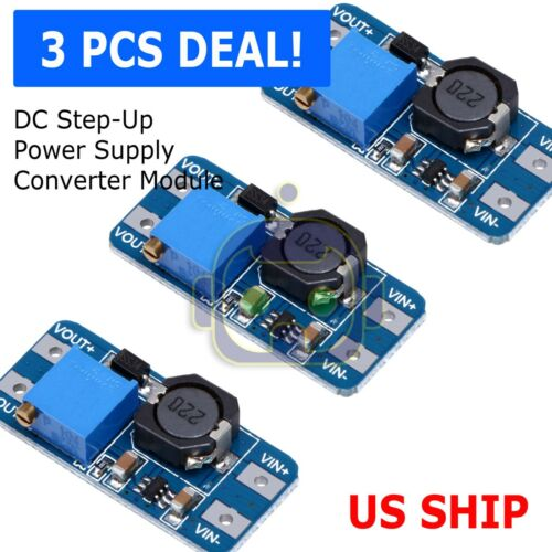 3PCS DC-DC 2A Adjustable Step Up Boost Power Supply Converter Module N108