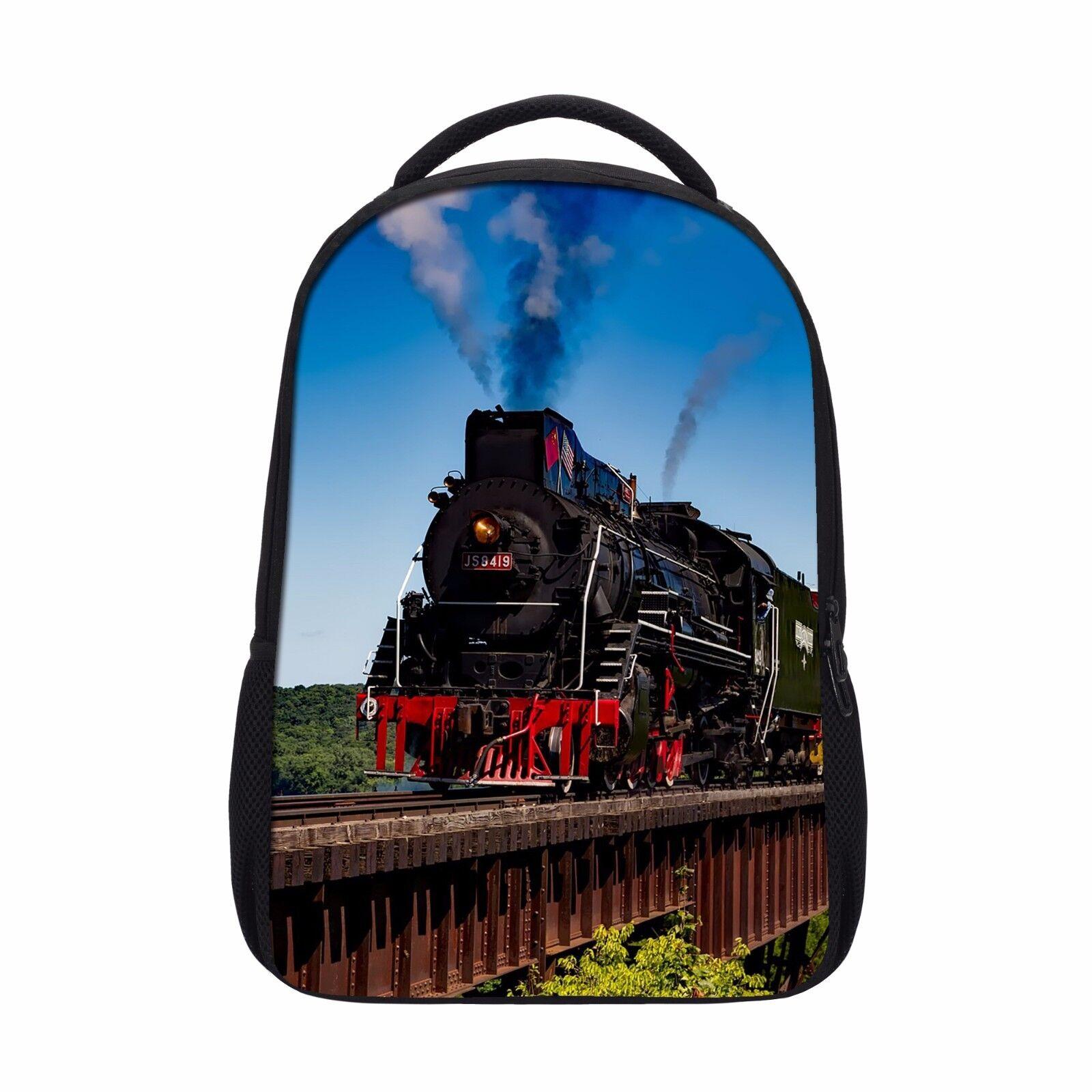 vintage steam train school backpack boys rucksack children s book