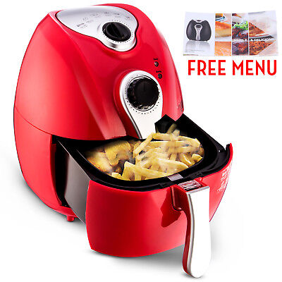 Red 1500w Electric Air Fryer Timer Temperature Control No-oil Healthy Less-fat