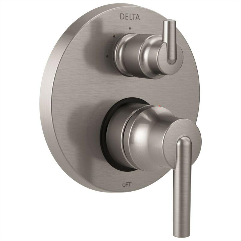 Delta Trinsic Shower Control with 3-Setting Diverter in Steel + Valve D2214V