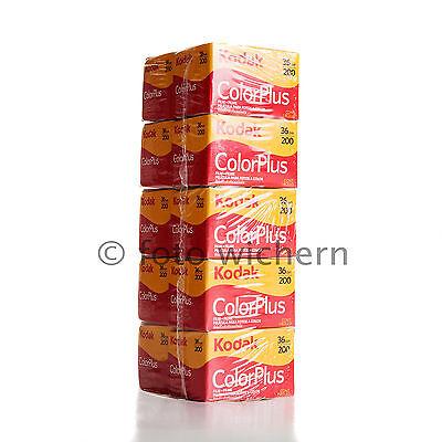 10x Kodak Filme ColorPlus 200 mit 36 Aufnahmen Kleinbild Film