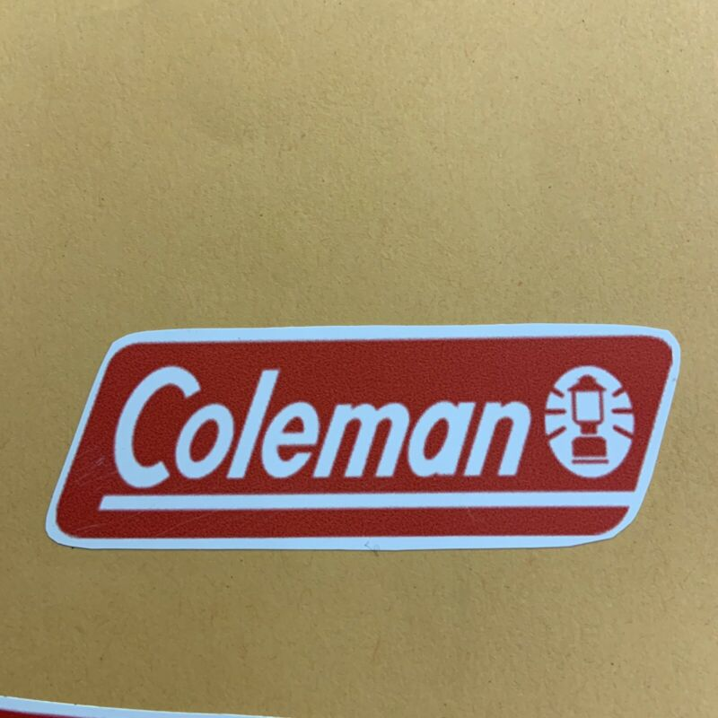 Coleman Cooler Ice Chest Vintage Reproduction Decals