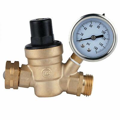 Water Pressure Regulator Lead Free Brass For Rv Adjustable Reducer Gauge 34