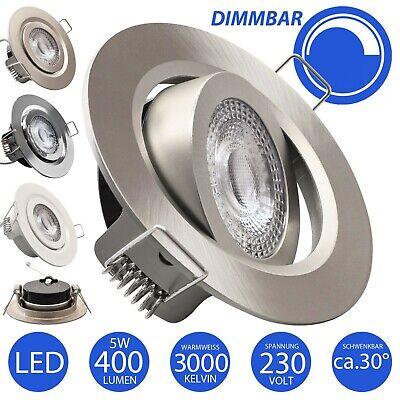 LED Einbaustrahler dimmbar flach Einbauspot Einbauleuchte 230V 5W Deckenstrahler
