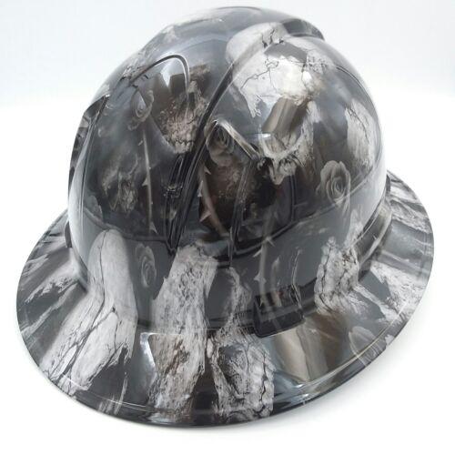 FULL BRIM Hard Hat custom hydro dipped , NEW 3D BONE HEAD SKULLS HOT NEW 3