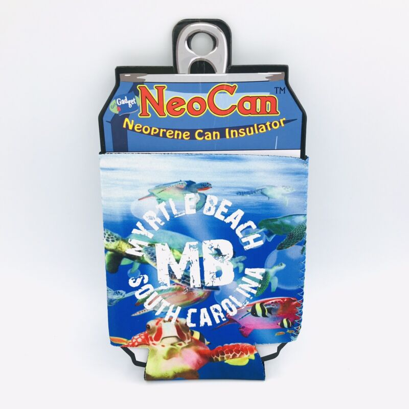 NEW Neocan Myrtle Beach South Carolina Neoprene Can Insulator Koozie Souvenir