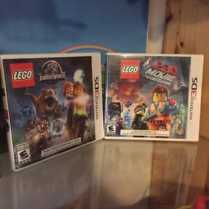 Lego Jurassic World and Lego Movie Video Game for  3DS
