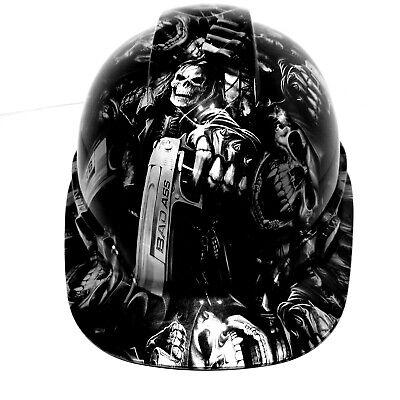 Hard Hat Custom Hydro Dipped Grim Reaper Shooter Steel Grey Osha Approved