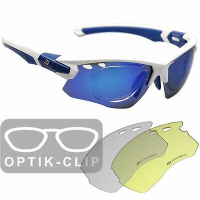 Fahrradbrille Radbrille mit Optik RX Sehstärke Clip verglasbar Brillenträger