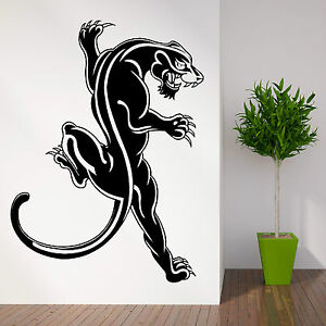 Wild animal black panther wall art sticker decal themed for Black panther mural