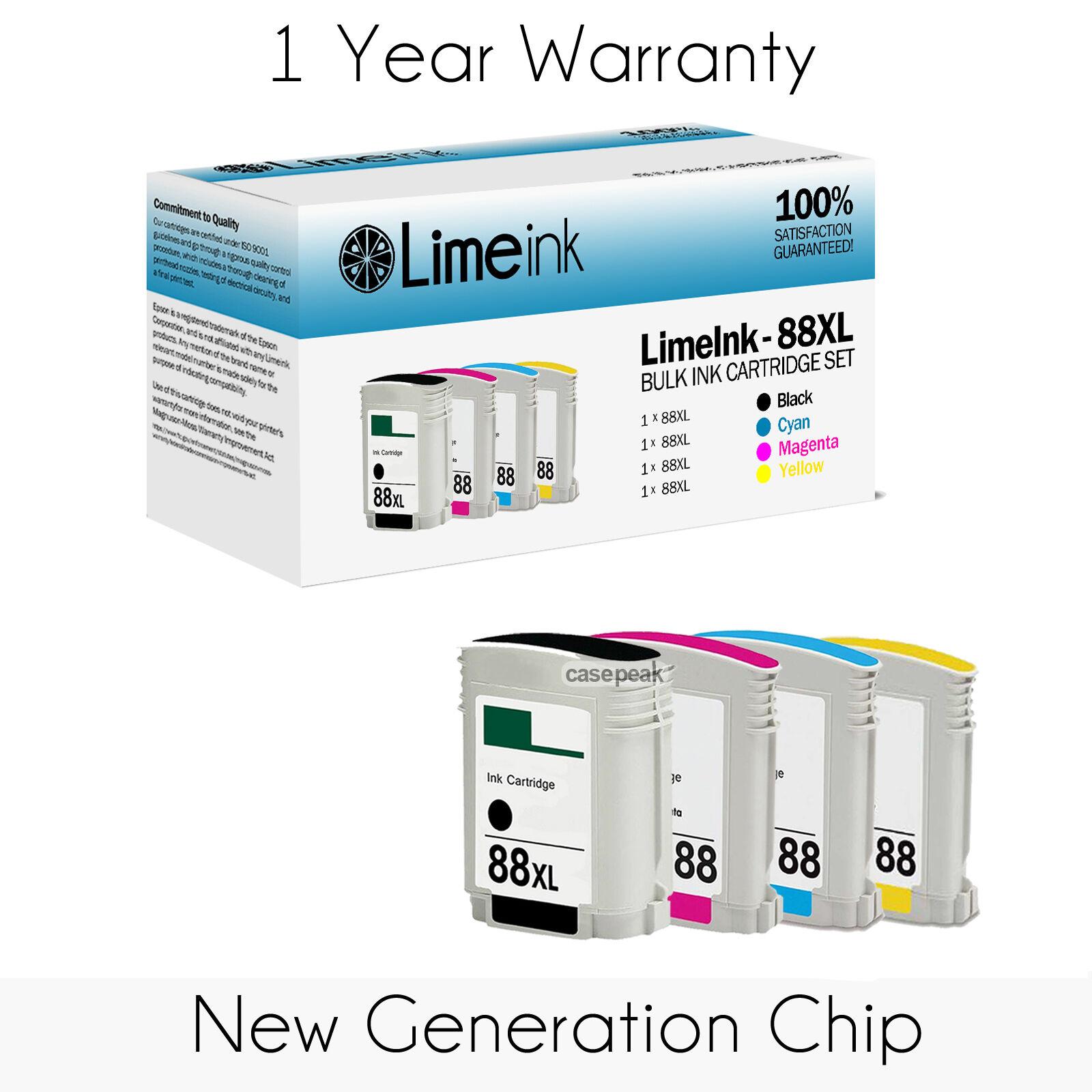 4 Pack 88XL Ink Cartridges For HP Officejet Pro L7500 L7550