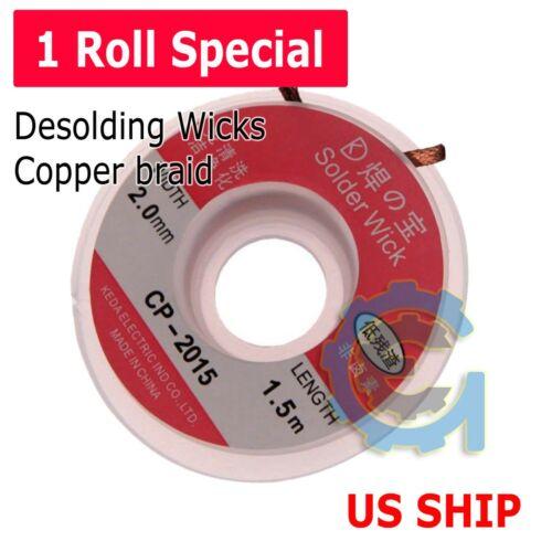 1PC CP2015 2.0mm 1.5M Desoldering Braid Solder Remover  Wick Wire Repair Tool