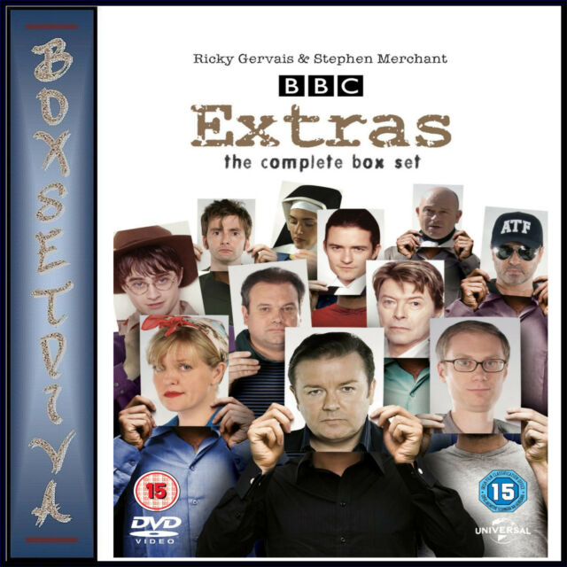 EXTRAS - THE COMPLETE COLLECTION - SERIES 1 & 2 *BRAND NEW DVD BOXSET **