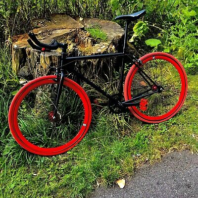 NO LOGO Rare Black/Red Bike Single Speed Fixie