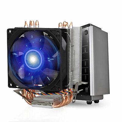 90mm Quiet CPU Air Cooler 4 Heat Pipes Twin-Tower Heatsink F
