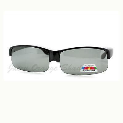 Polarized Lens Fit Over Glasses Extra Wide Half Rim Rectangular (Wide Rim Glasses)
