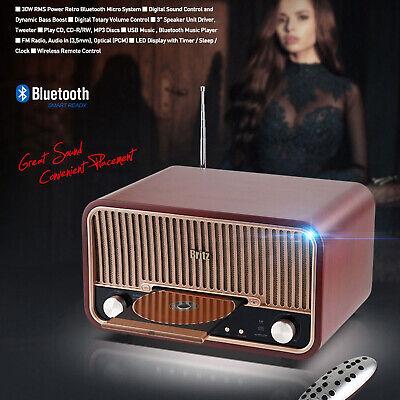 Britz BZ-T7800 Antique Audio Bluetooth Speaker CD Player FM Radio < 220V only >