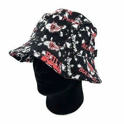 FRPLY Mens Chicago Bulls Michael Jordan #23 NBA Basketball Bucket Hat Black Red