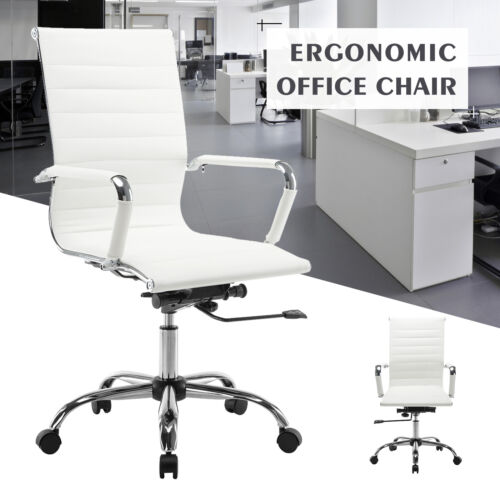 High Back Leather Office Chair Executive Task Ergonomic Comp