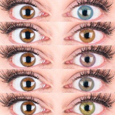 aktlinsen Mit und Ohne Stärke weich Jasmin natürlich deckend (Farbige Kontaktlinsen)