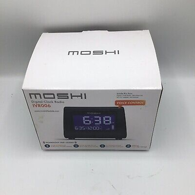 Moshi Digital Alarm Clock Radio Voice Controlled New Open Box No Manual