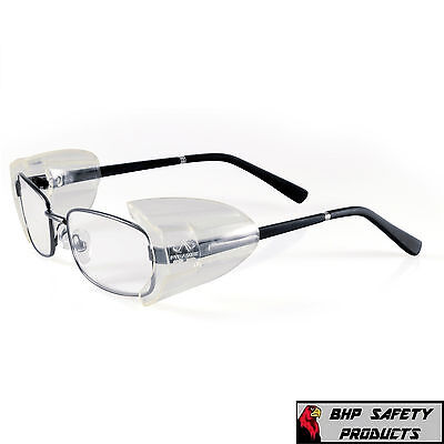 CLEAR UNIVERSAL FLEXIBLE SIDE SHIELDS FOR EYE GLASSES PYRAMEX SS100 (1 PAIR)