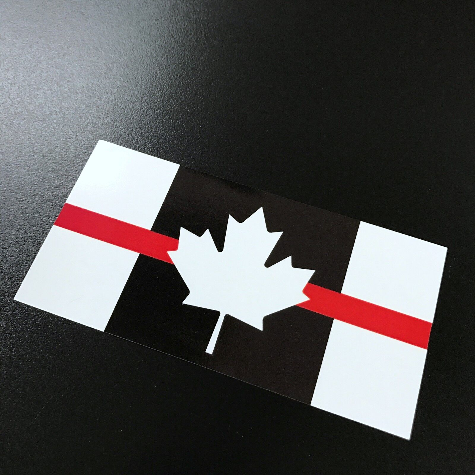 2 of 3 canada flag red stripe sticker