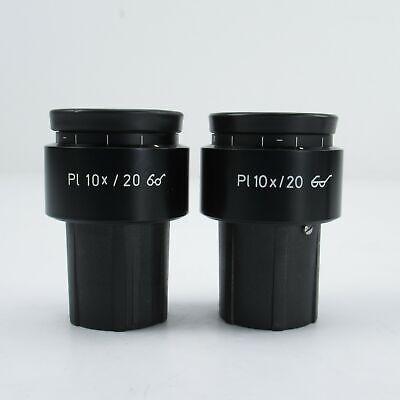 Carl Zeiss Pl 10x20 30mm Focusable Eyepiece Pair W Retaining Screws 44 40 32