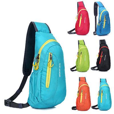 Unisex Männer Frauen Nylon Crossbody Sling Bag Schulter Brust Taschen Rucksack  (Sling-rucksack)