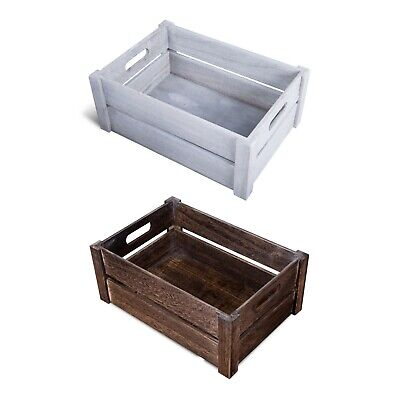 Oval Handle Wooden Apple Crates Storage Box Display Tray Christmas Hampers