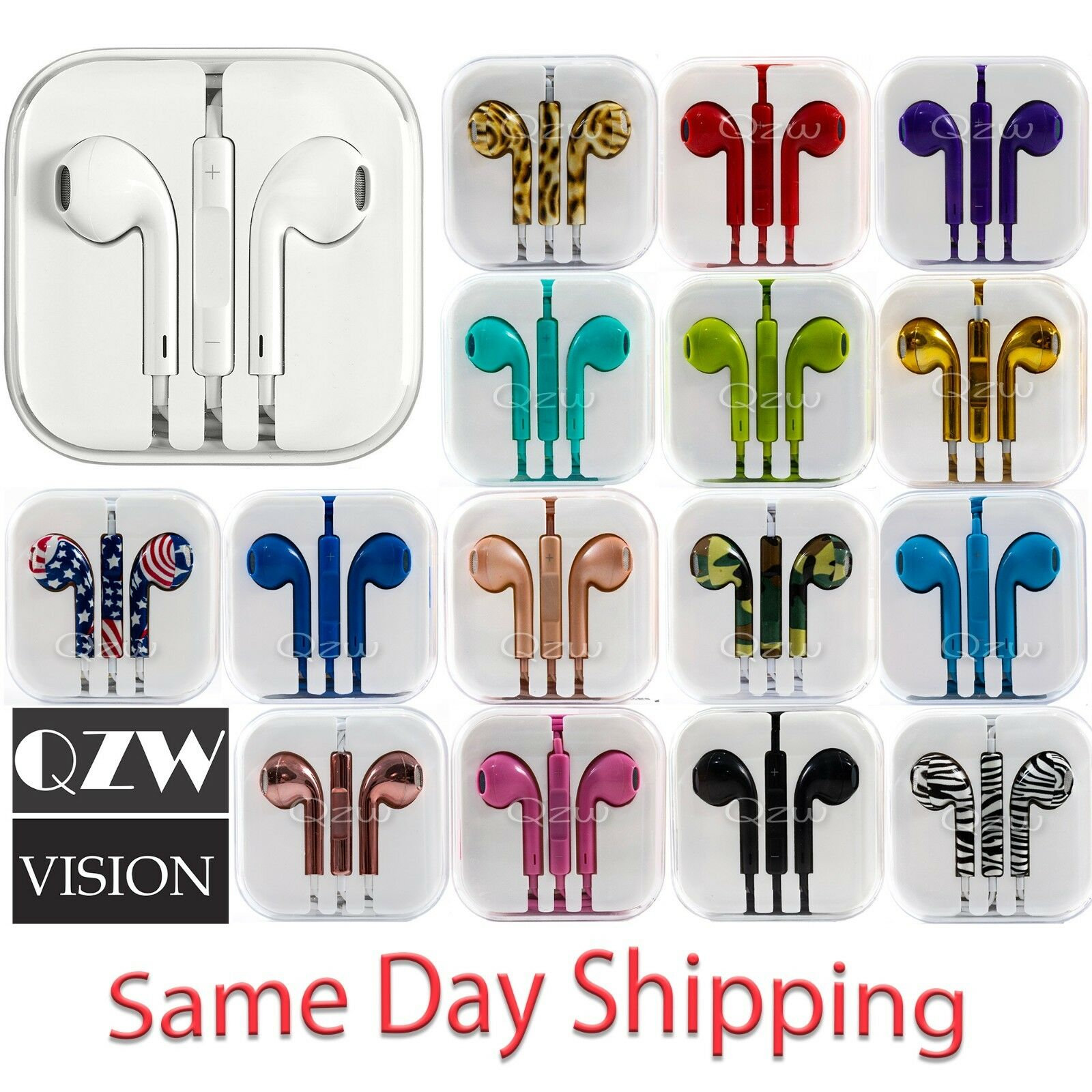3.5mm Jack Earbuds wired Earphone Headphone For Samsung 8 9